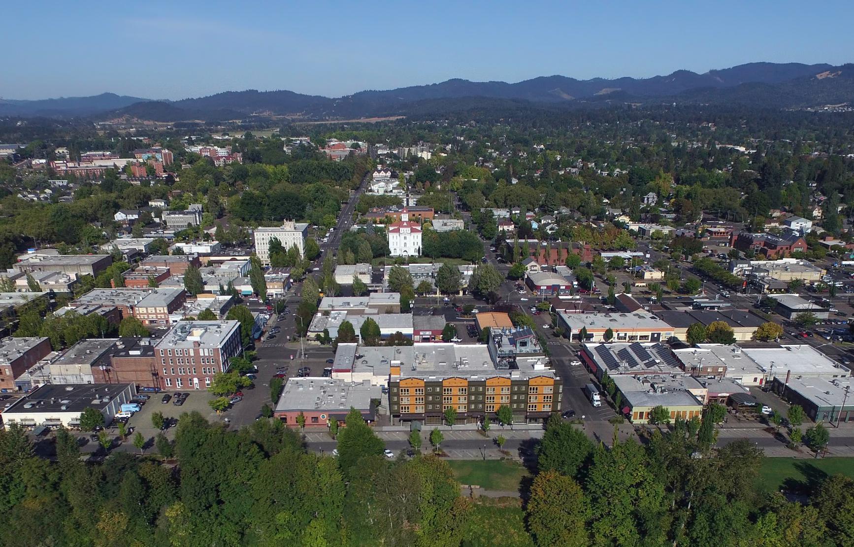 Corvallis, Oregon aerial view