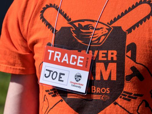 TRACE worker wearing name tag named Joe